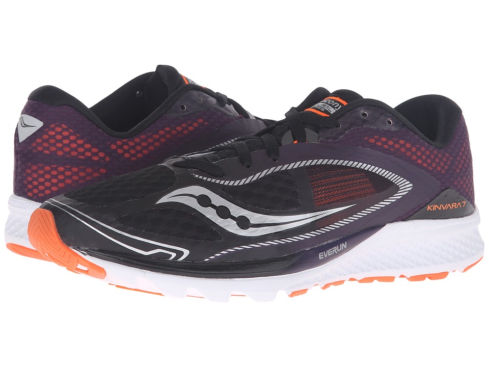 Saucony - Kinvara 7 (Black/Purple/Orange) Men's Shoes