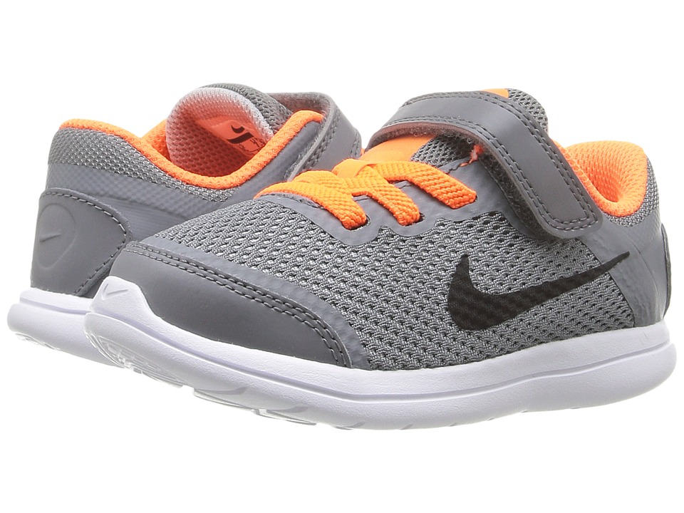 Nike Kids - Flex 2016 RN (Infant/Toddler) (Cool Grey/Total Orange/Wolf Grey/Black) Boys Shoes