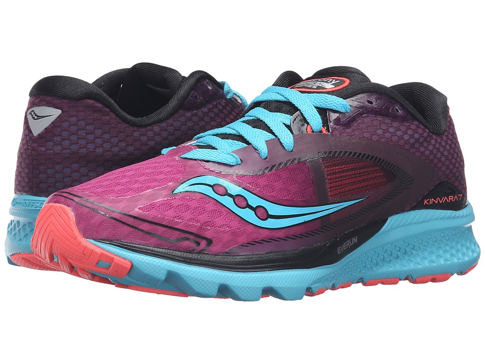 Saucony - Kinvara 7 (Pink/Purple/Blue) Women's Shoes