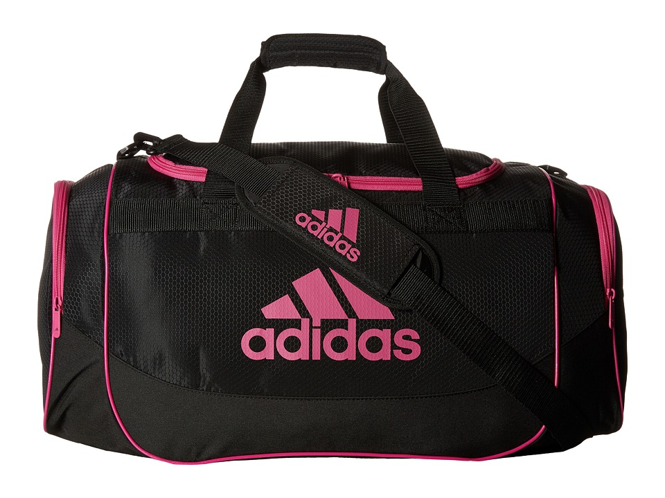 adidas - Defense Medium Duffel Bag (Black/Intense Pink) Duffel Bags