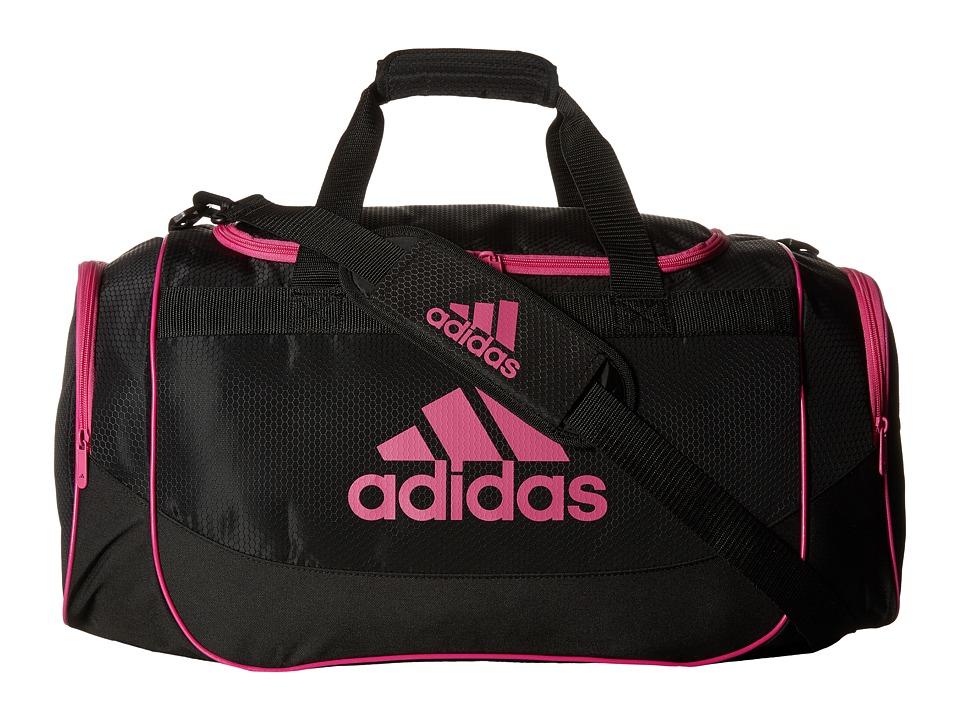 adidas - Defense Medium Duffel Bag (Black/Intense Pink) Duffel Bags