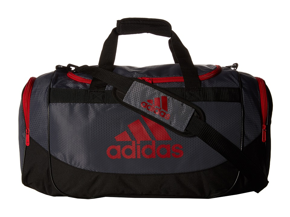 adidas - Defense Medium Duffel Bag (Lead/Light Scarlet) Duffel Bags