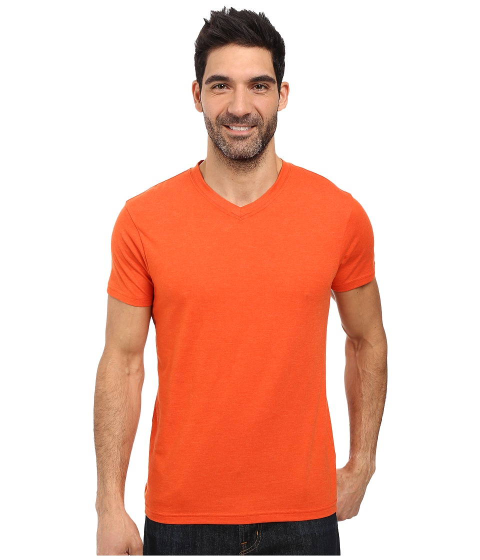 Prana - prAna V-Neck Tee (Cayenne Heather) Men's Short Sleeve Pullover
