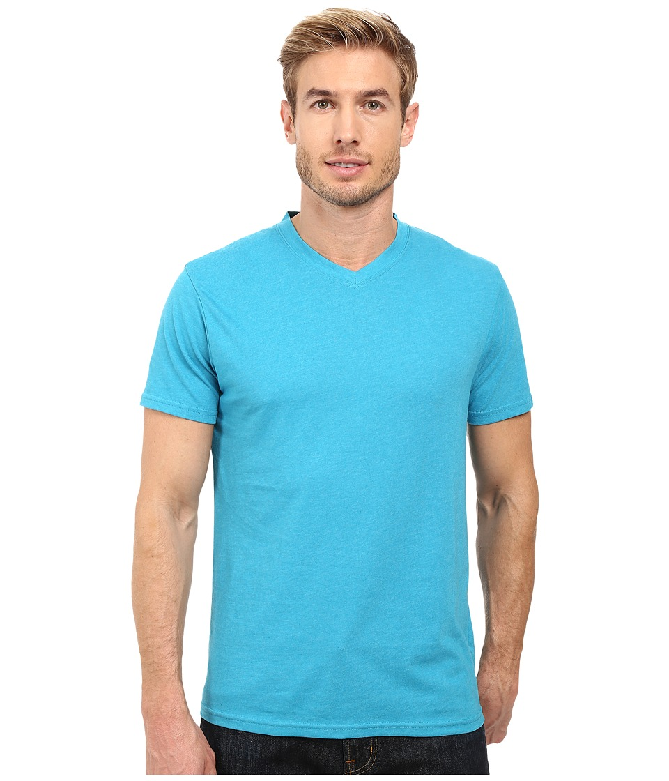 Prana - prAna V-Neck Tee (Cove Heather) Men's Short Sleeve Pullover