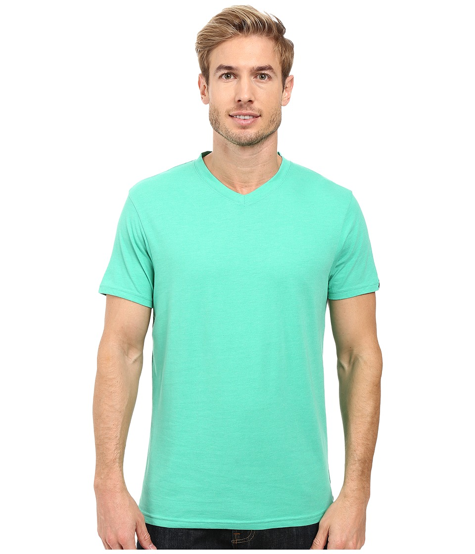 Prana - prAna V-Neck Tee (Mint Heather) Men's Short Sleeve Pullover