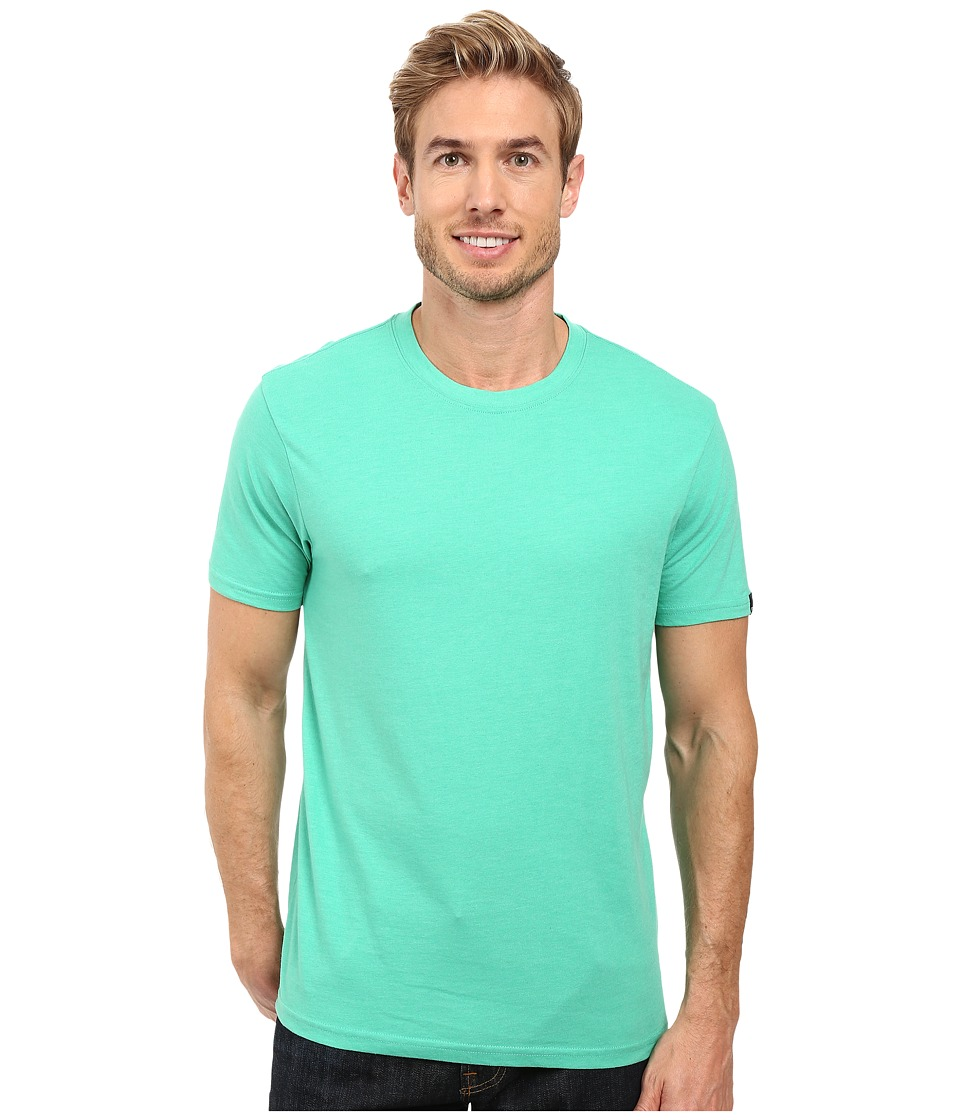 Prana - prAna Crew Tee (Mint Heather) Men's Short Sleeve Pullover