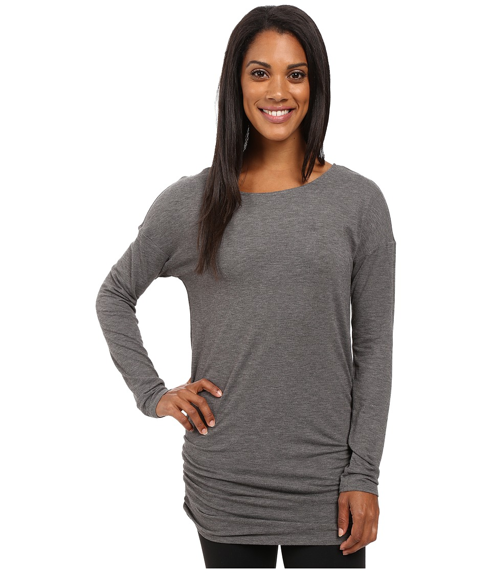 Lucy - Yoga Girl Long Sleeve Top (Asphalt Heather) Women's Long Sleeve Pullover