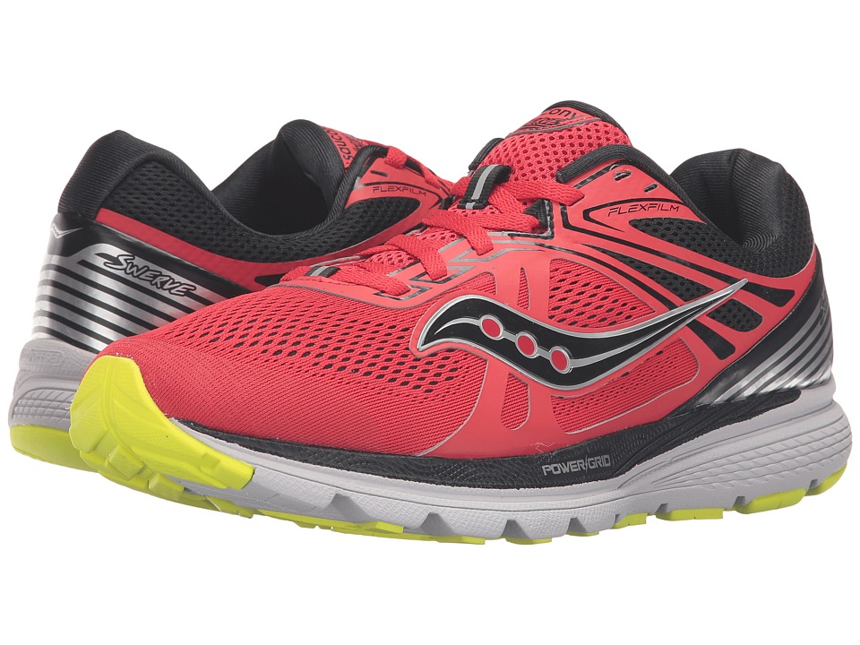 Saucony - Swerve (Red/Black/Citron) Men's Running Shoes