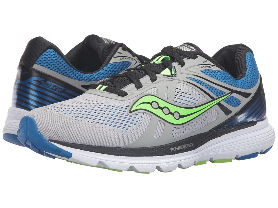 Saucony - Swerve (Grey/Blue/Slime) Men's Running Shoes