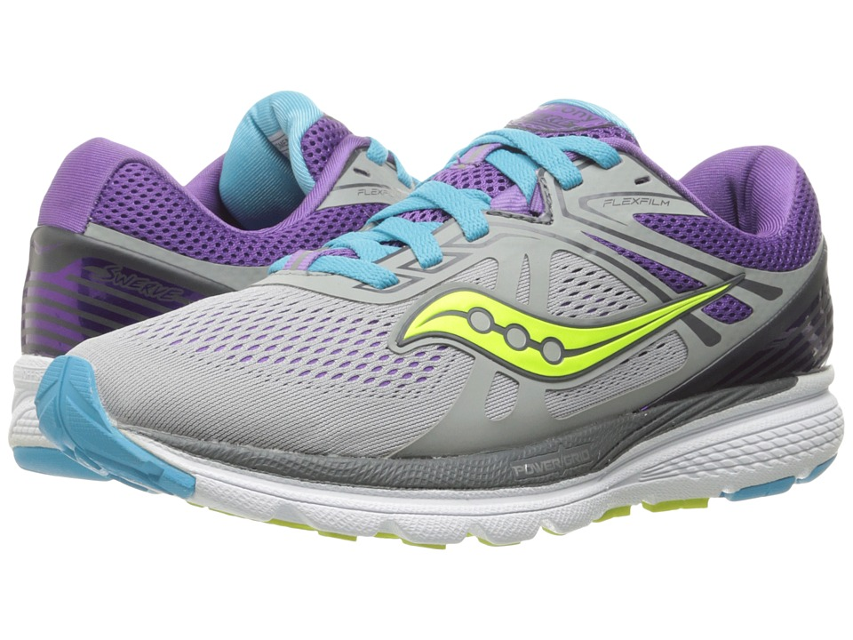 Saucony - Swerve (Grey/Purple/Blue) Women's Running Shoes