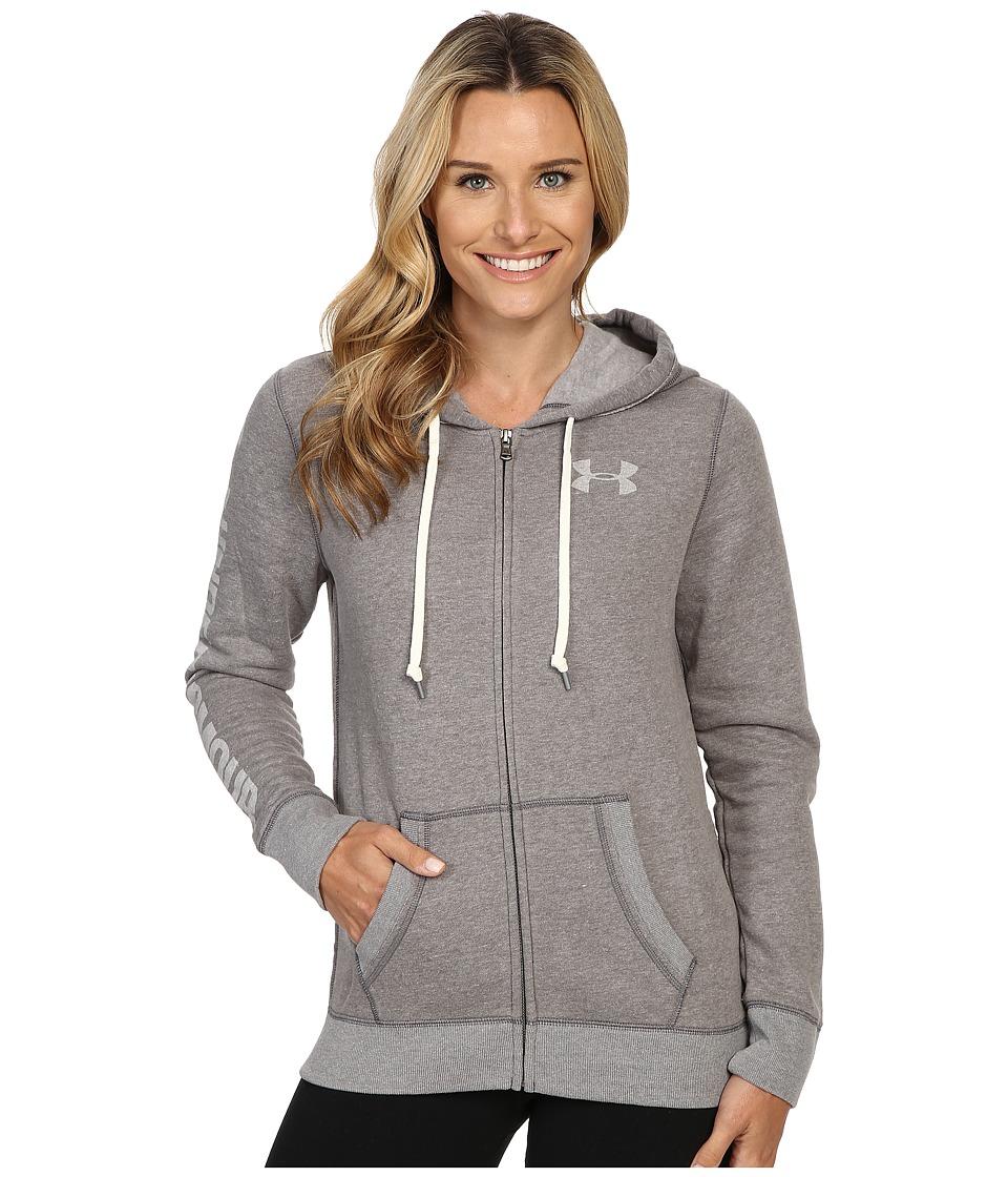 Under Armour UA Favorite Fleece Full Zip (True Gray Heather/White) Women