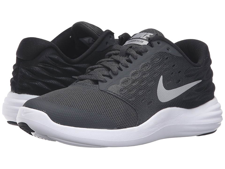 Nike Kids - Lunastelos (Big Kid) (Anthracite/Black/Metallic Silver/Metallic Silver) Boys Shoes