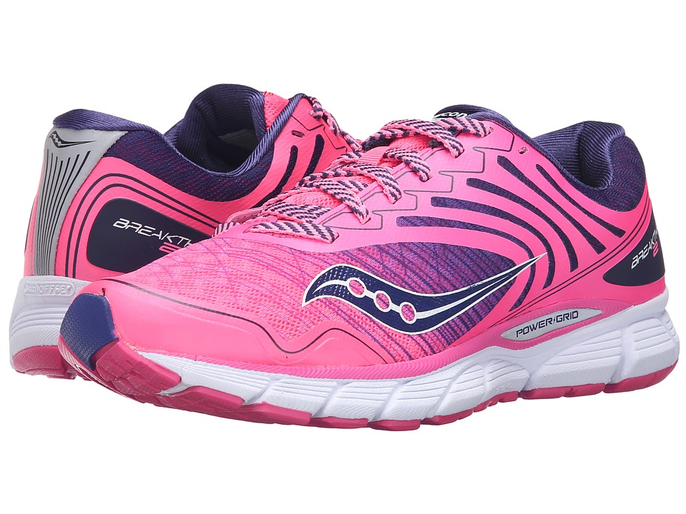 Saucony - Breakthru 2 (Pink/Navy) Women's Shoes