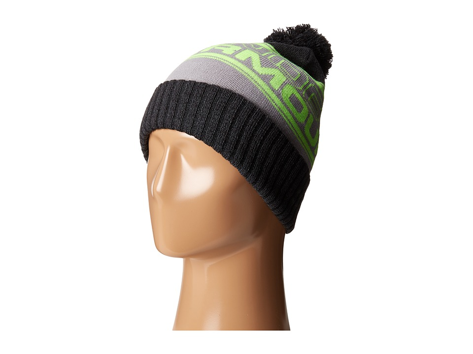 Under Armour - UA Pom Beanie (Stealth Gray/Steel/Hyper Green) Beanies