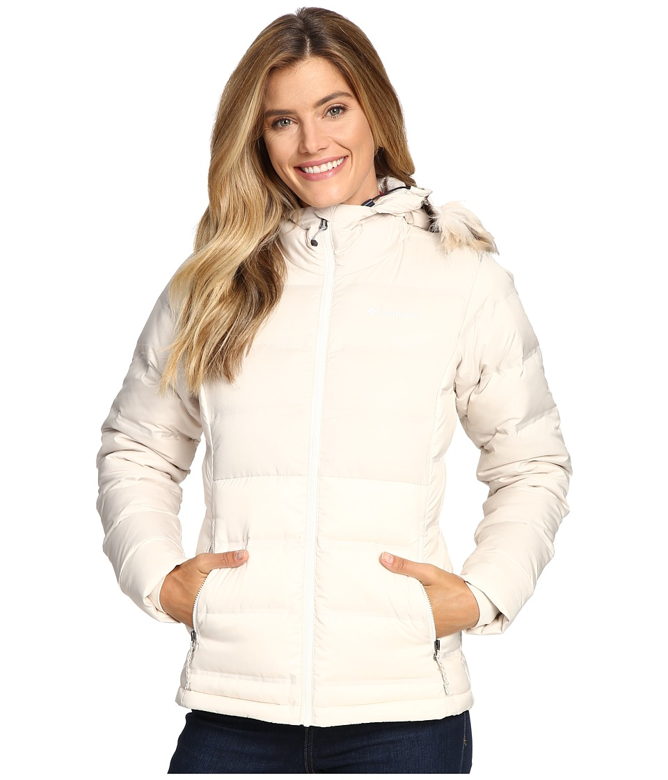 Columbia - North Protection Hooded Jacket (Chalk) Women's Coat