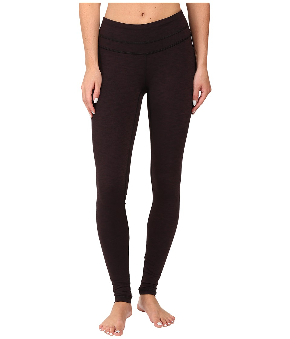 Lucy - Studio Hatha Legging (Fig/Lucy Black Heather) Women's Workout