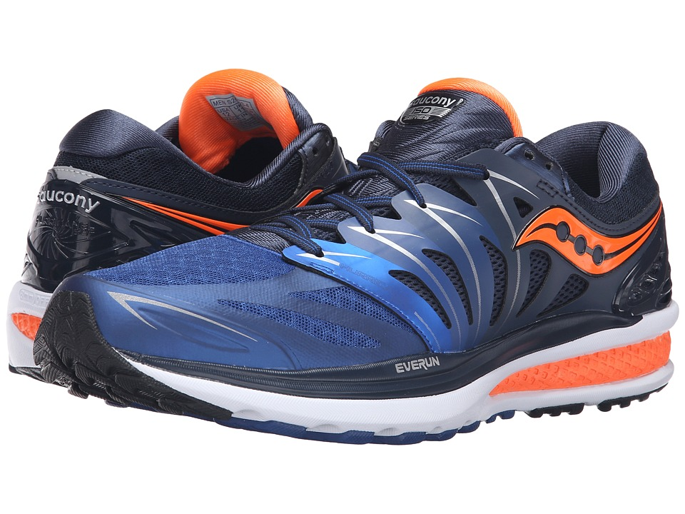 Saucony - Hurricane ISO 2 (Navy/Blue/Orange) Men's Shoes