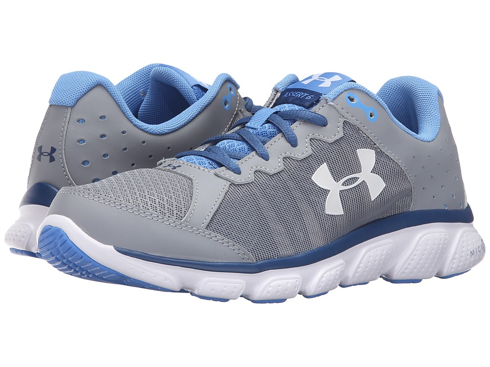 Under Armour - UA Micro G(r) Assert 6 (Steel/Heron/White) Women's Running Shoes