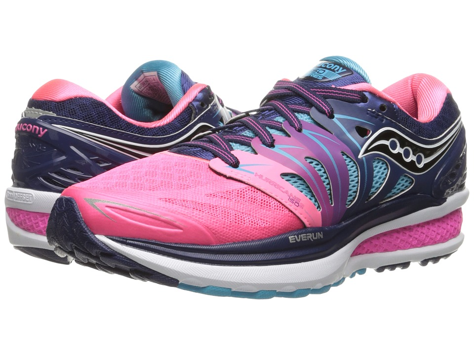 Saucony - Hurricane ISO 2 (Blue/Pink) Women's Shoes