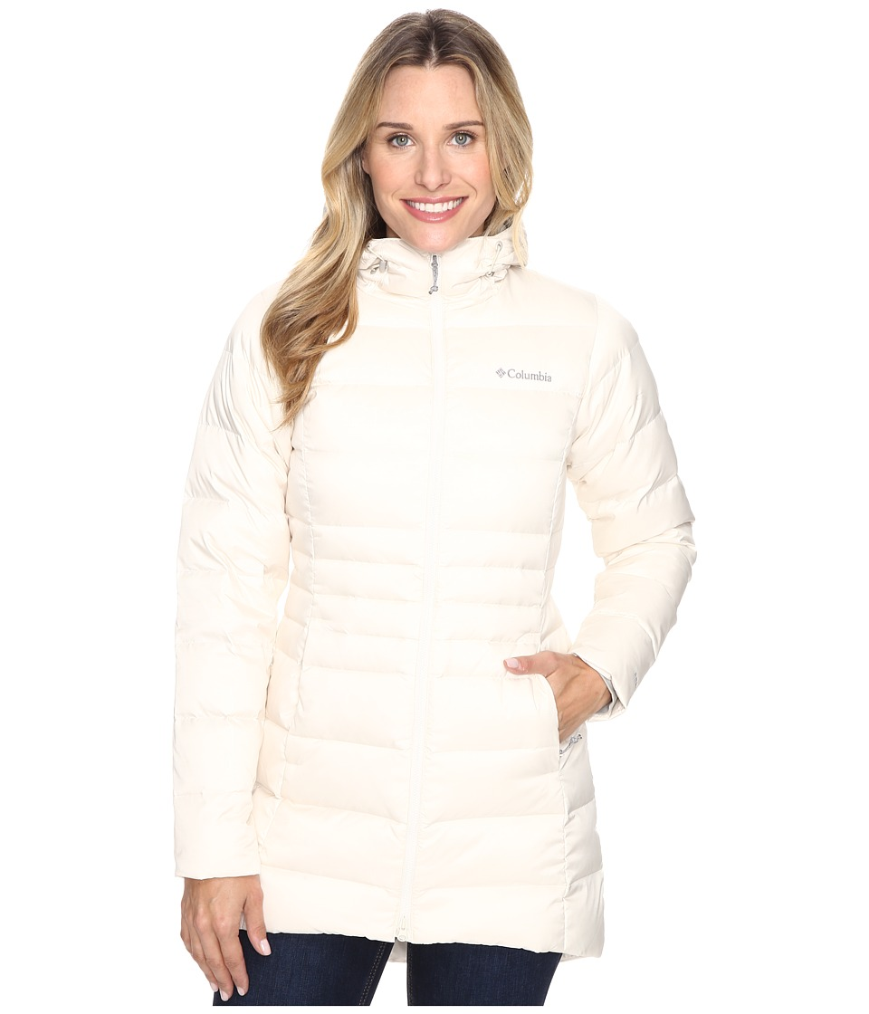 Columbia - Hellfire Mid Down Hooded Jacket (Chalk) Women's Coat