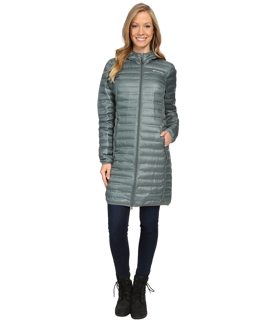 Columbia - Flash Forward Long Down Jacket (Pond/Spray) Women's Coat