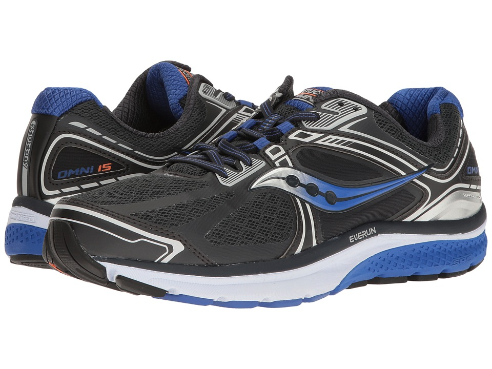 Saucony - Omni 15 (Grey/Blue/Silver) Men's Running Shoes