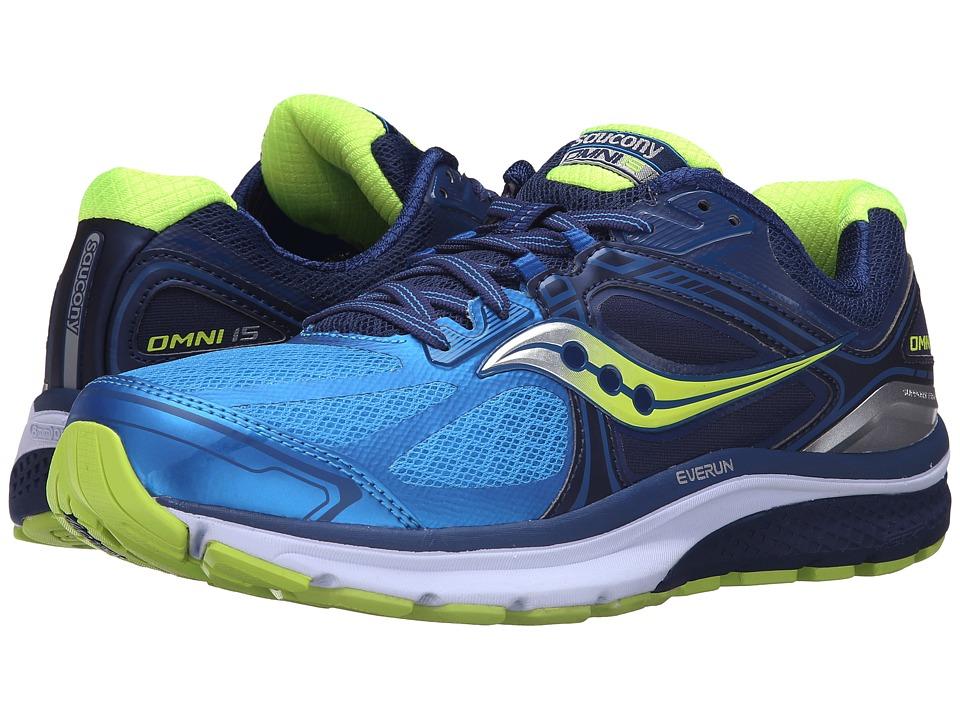 Saucony - Omni 15 (Twilight/Blue/Citron) Men's Running Shoes