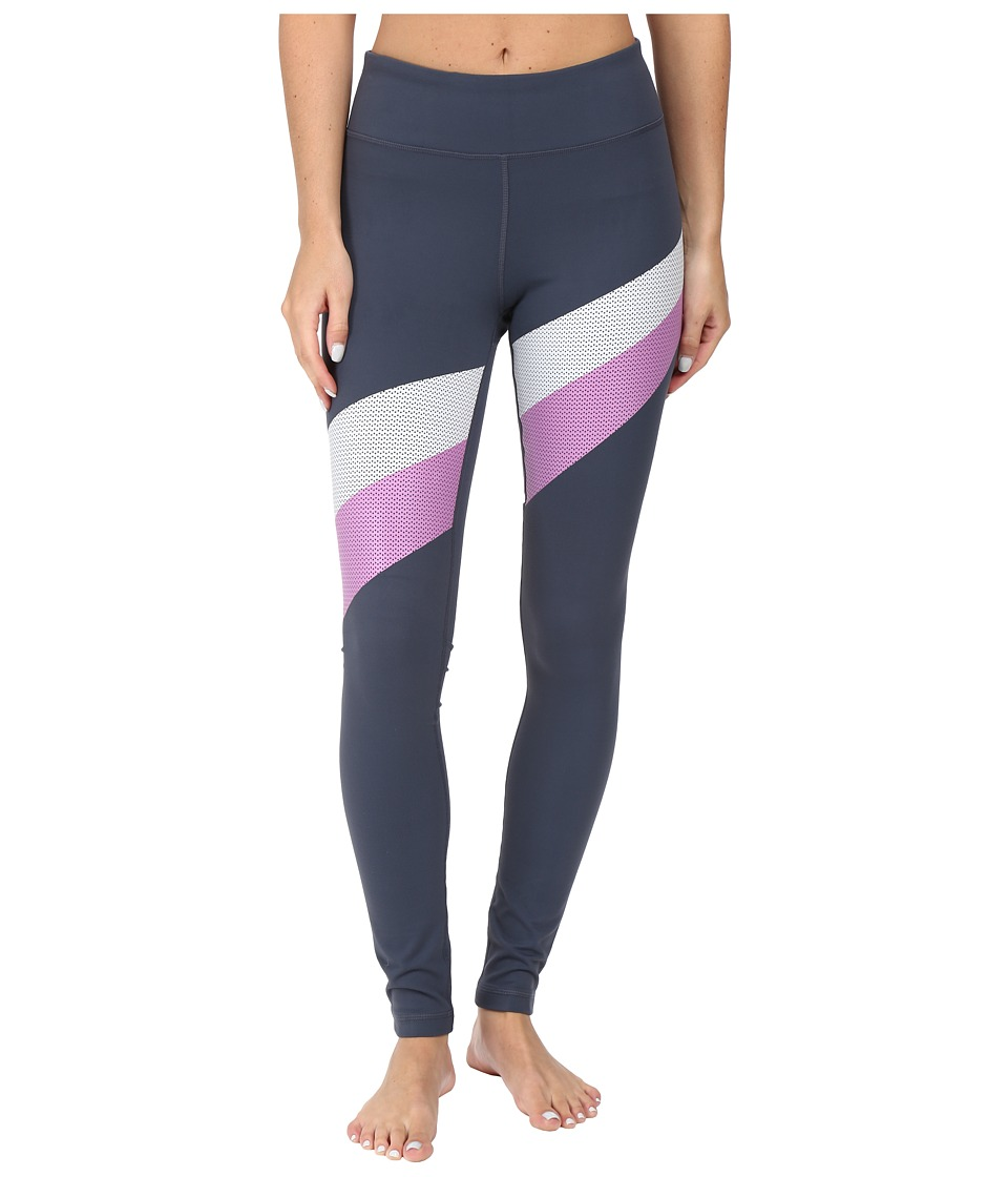 Under Armour - UA Mirror Stripe Leggings (Stealth Gray/Verve Violet/Elemental) Women's Workout