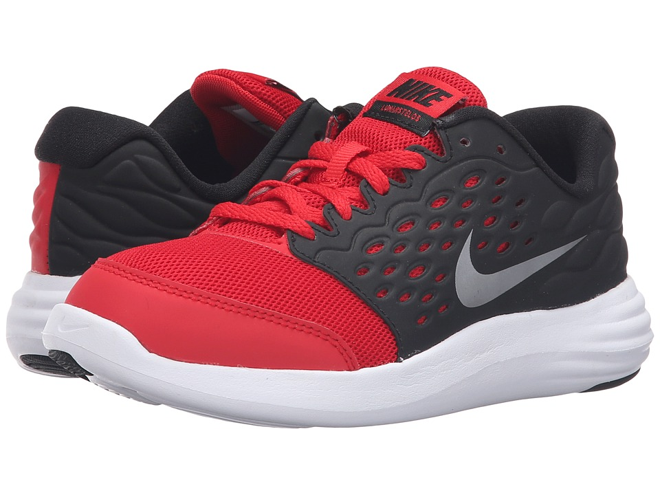 Nike Kids - Lunastelos (Little Kid) (University Red/Black/White/Metallic Silver) Boys Shoes