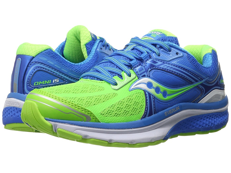 Saucony - Omni 15 (Blue/Slime/Grey) Women's Running Shoes