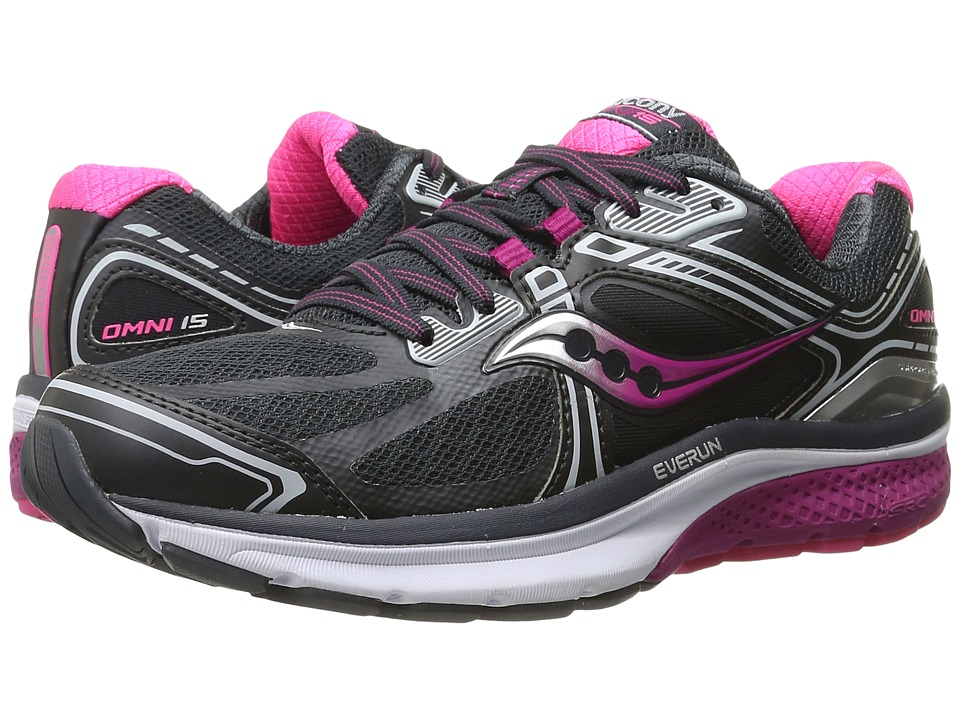 Saucony - Omni 15 (Grey/Purple/Pink) Women's Running Shoes