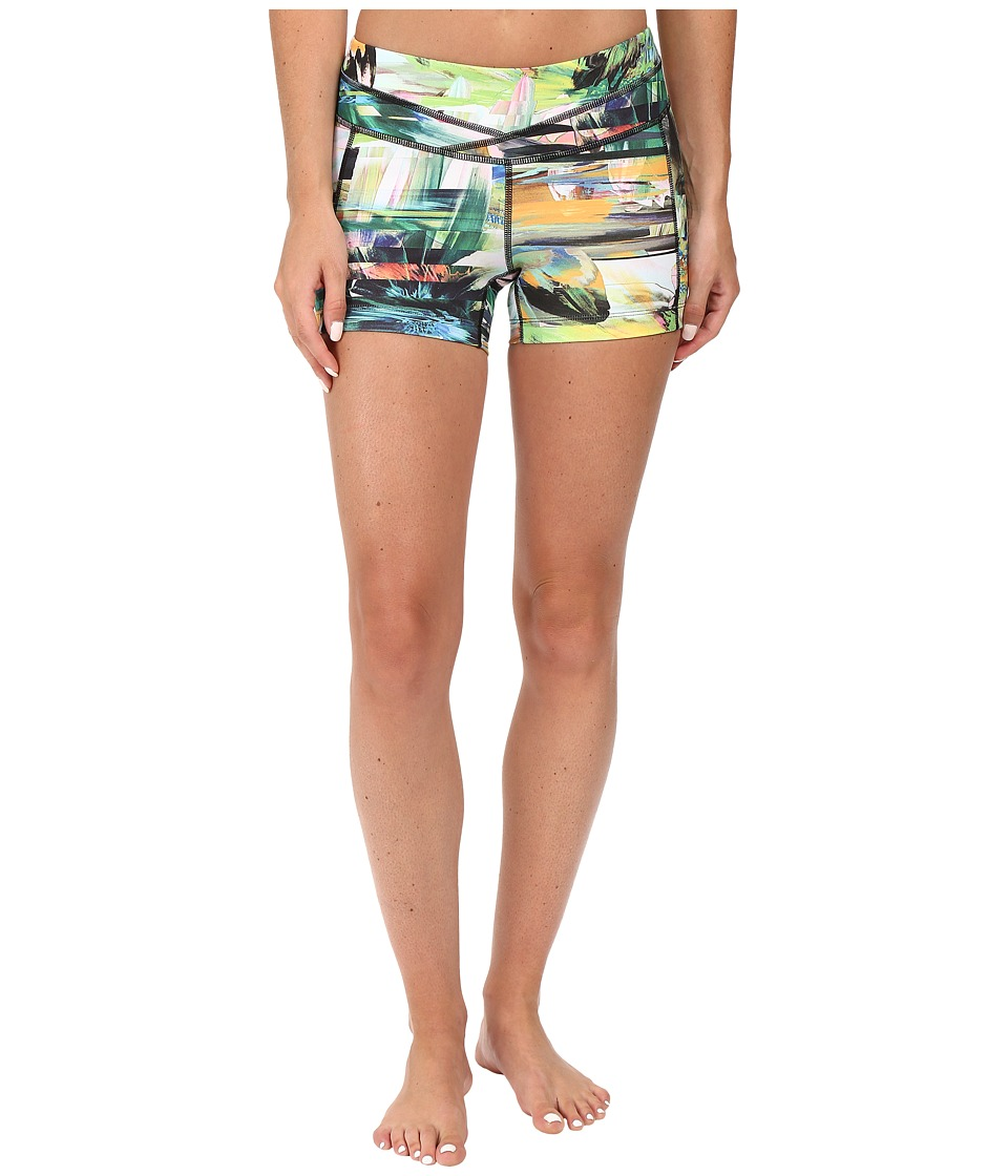 Lucy - lucy Hatha Short (Blurred Floral Print) Women's Shorts