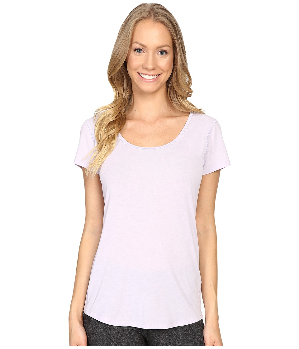 Lucy - S/S Workout Tee (Sheer Lilac) Women's Workout