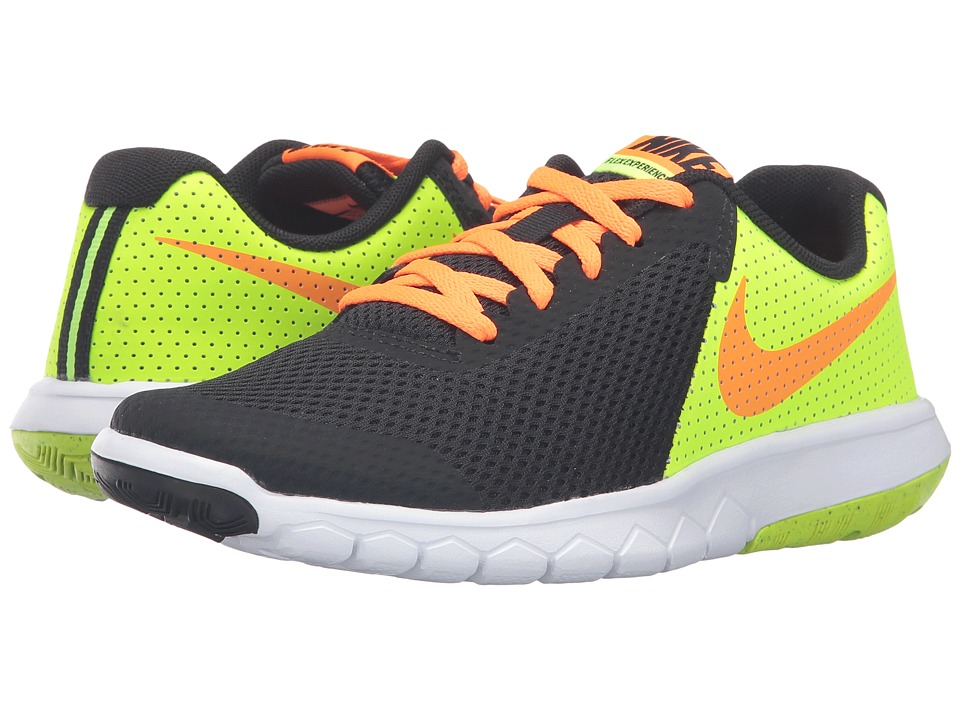 Nike Kids - Flex Experience 5 (Big Kid) (Black/Volt/White/Total Orange) Boys Shoes