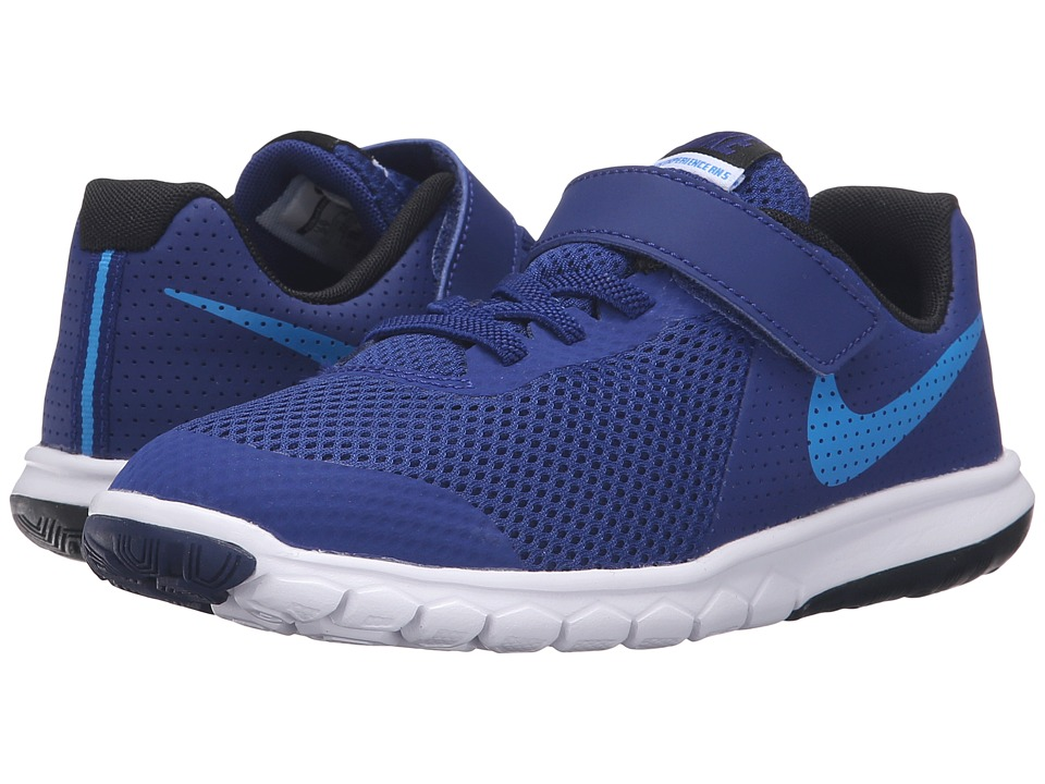 Nike Kids Flex Experience 5 (Little Kid) (Deep Royal Blue/Black/White/Photo Blue) Boys Shoes