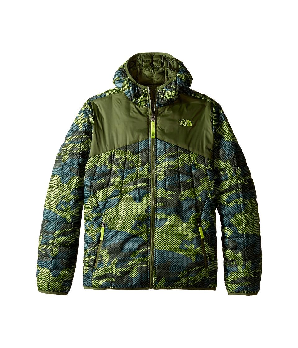 The North Face Kids - Reversible Thermoball Hoodie (Little Kids/Big Kids) (Terrarium Green Mesh Camo) Boy's Sweatshirt