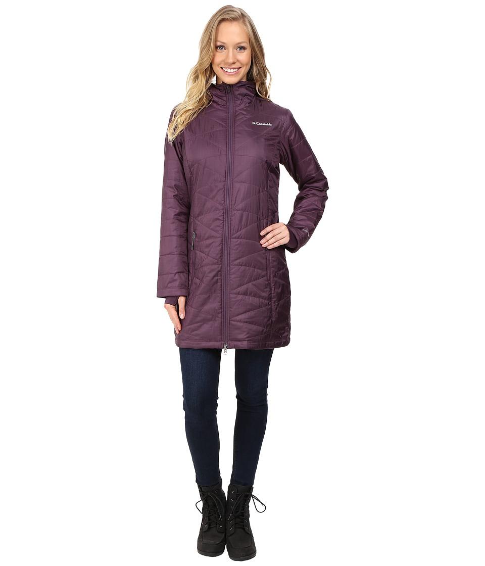 Columbia - Mighty Lite Hooded Jacket (Dusty Purple) Women's Coat