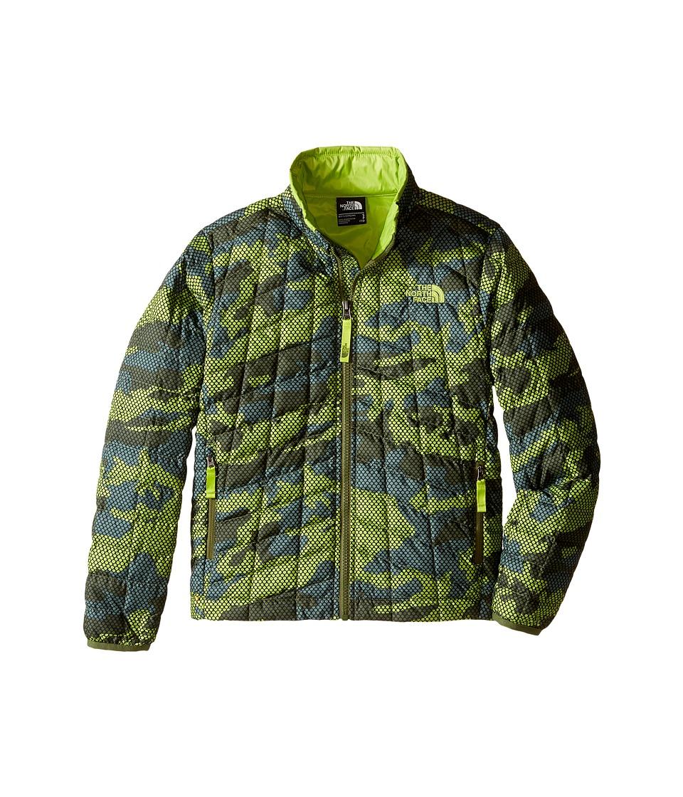 The North Face Kids - Thermoball Full Zip Jacket (Little Kids/Big Kids) (Terrarium Green Mesh Camo) Boy's Coat