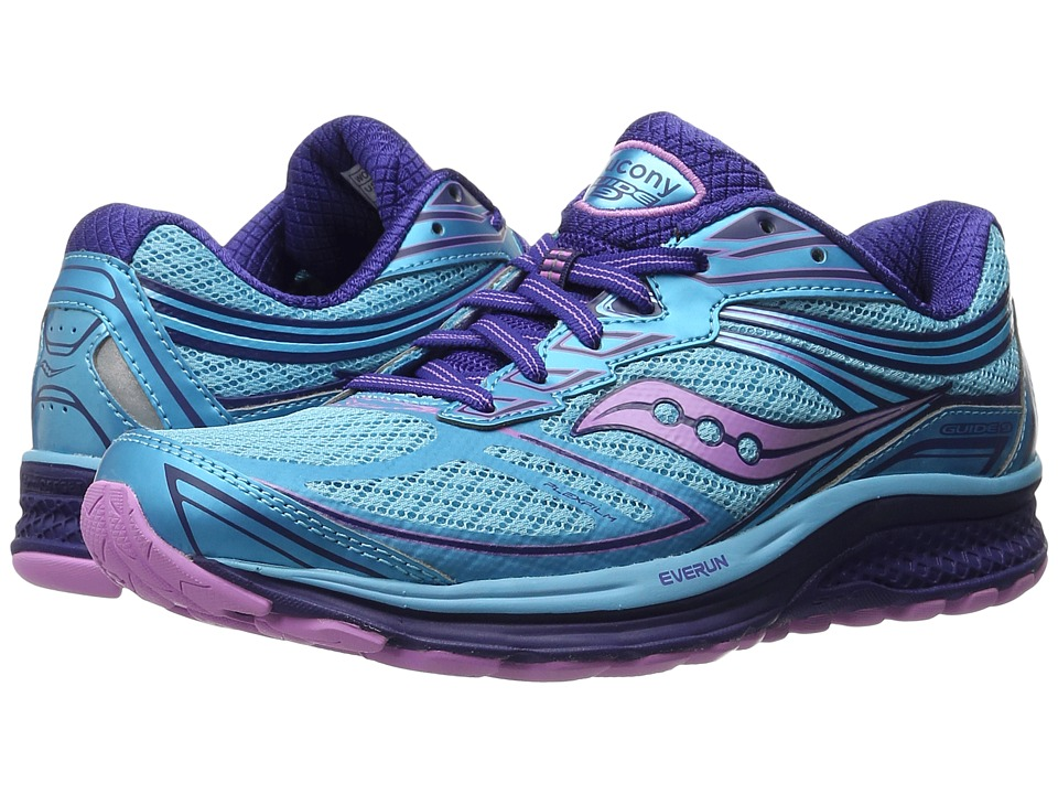 Saucony - Guide 9 (Blue/Purple/Pink) Women's Shoes