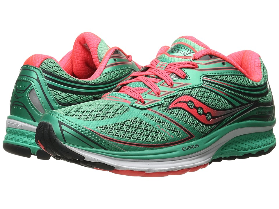Saucony - Guide 9 (Teal/Vizicoral) Women's Shoes