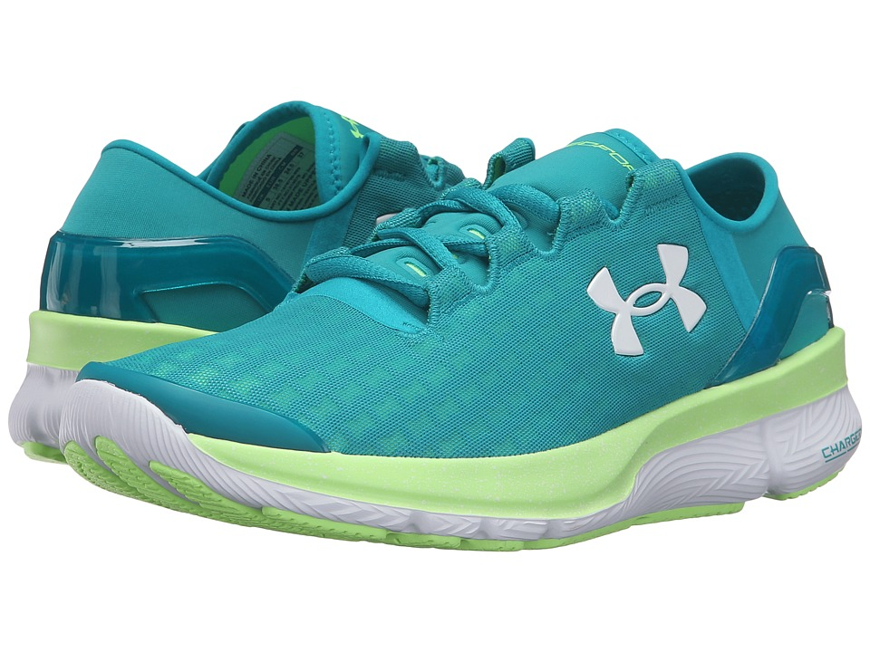 Under Armour - UA Speedform Apollo 2 Clutch (Tahitian Teal/Limelight/White) Women's Running Shoes