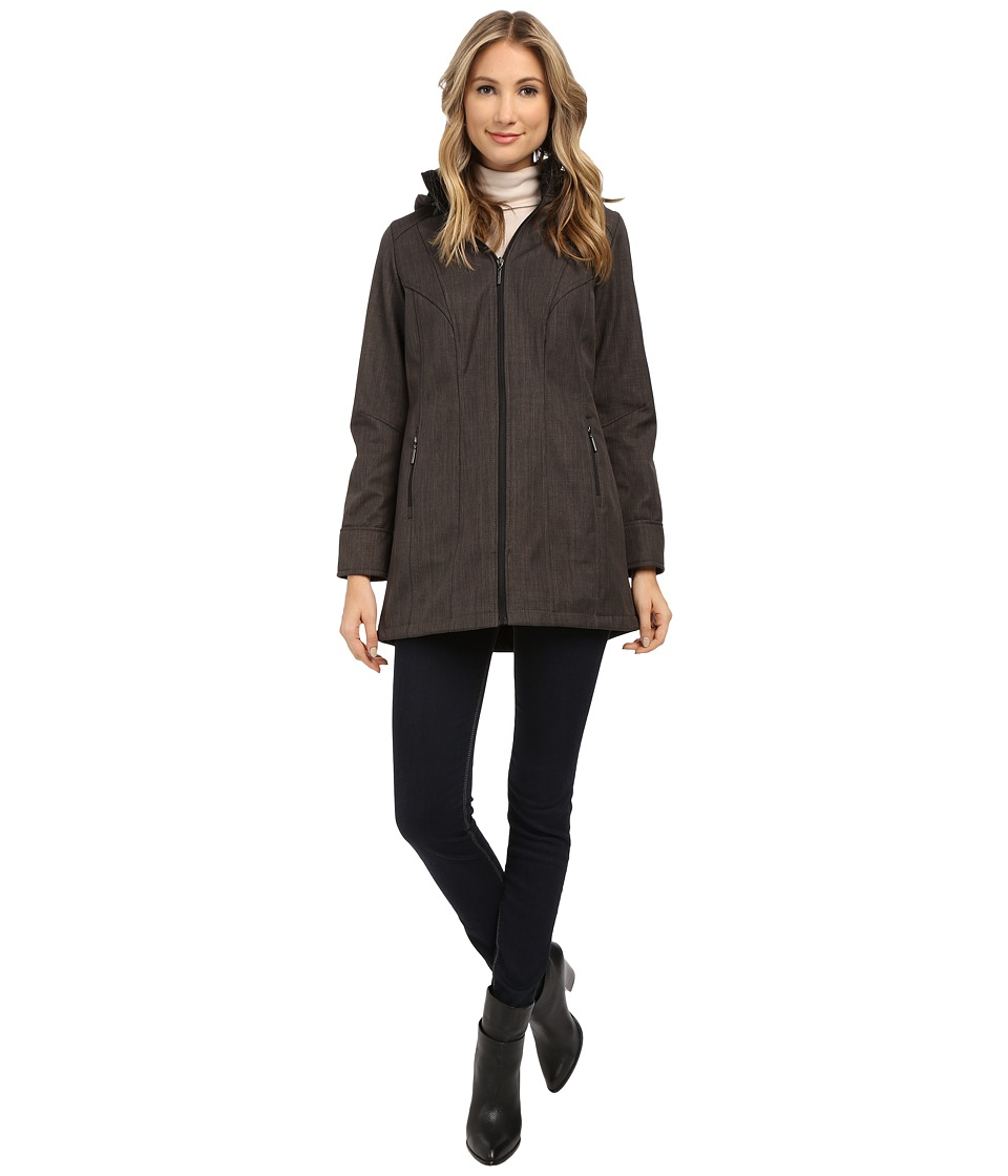 Weatherproof - Soft Shell Hooded Walker (Melange Grey) Women