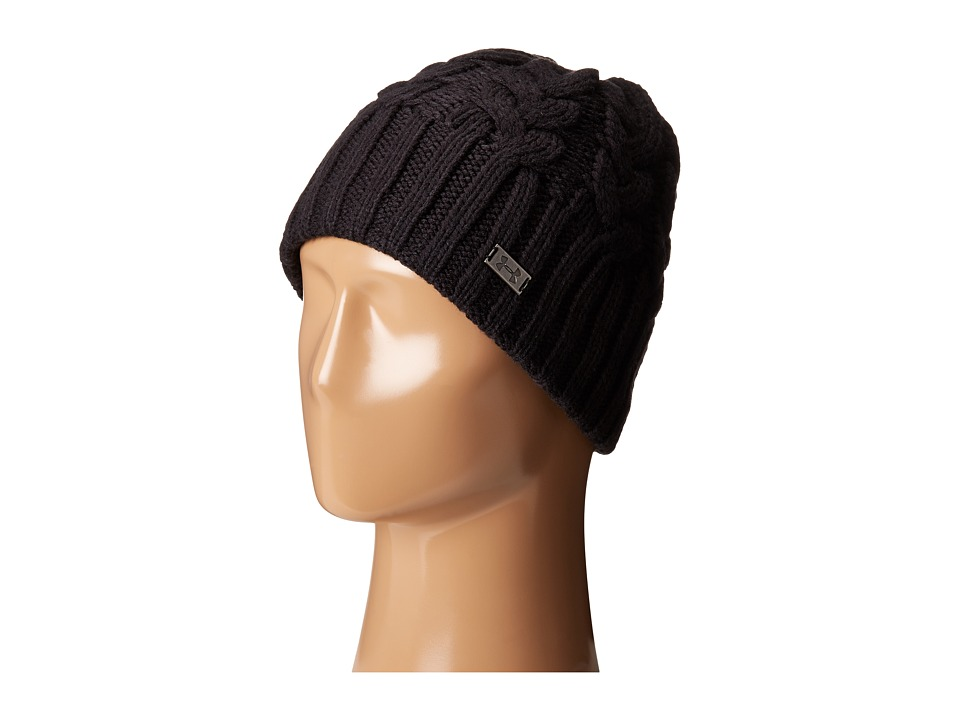 Under Armour - UA Around Town Beanie (Black/Steel) Beanies