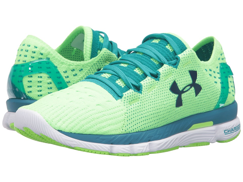 Under Armour - UA SpeedFormtm Slingshot (Limelight/Tahitian Teal/Peacock) Women's Running Shoes