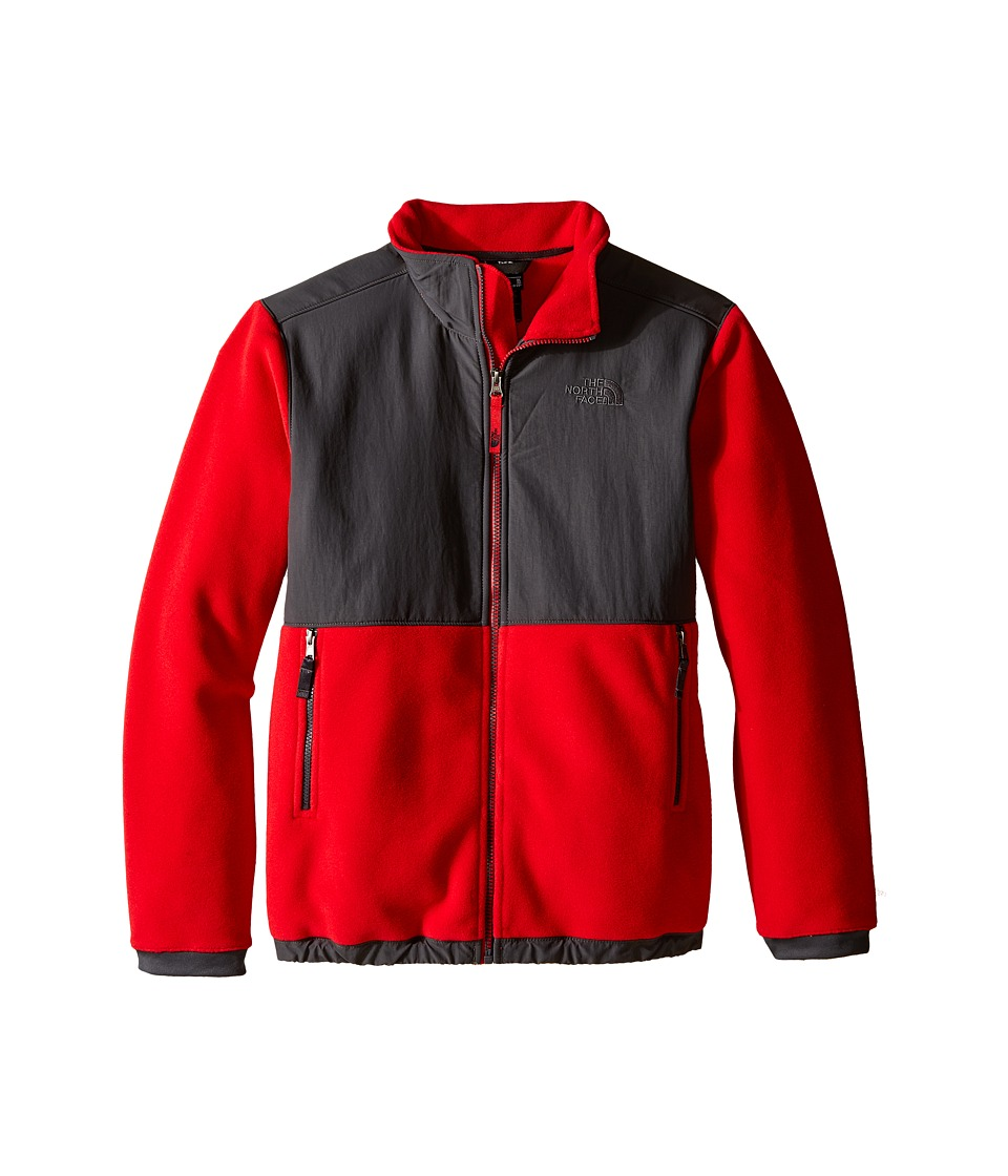 The North Face Kids - Denali Jacket (Little Kids/Big Kids) (Graphite Grey/TNF Red) Boy's Coat