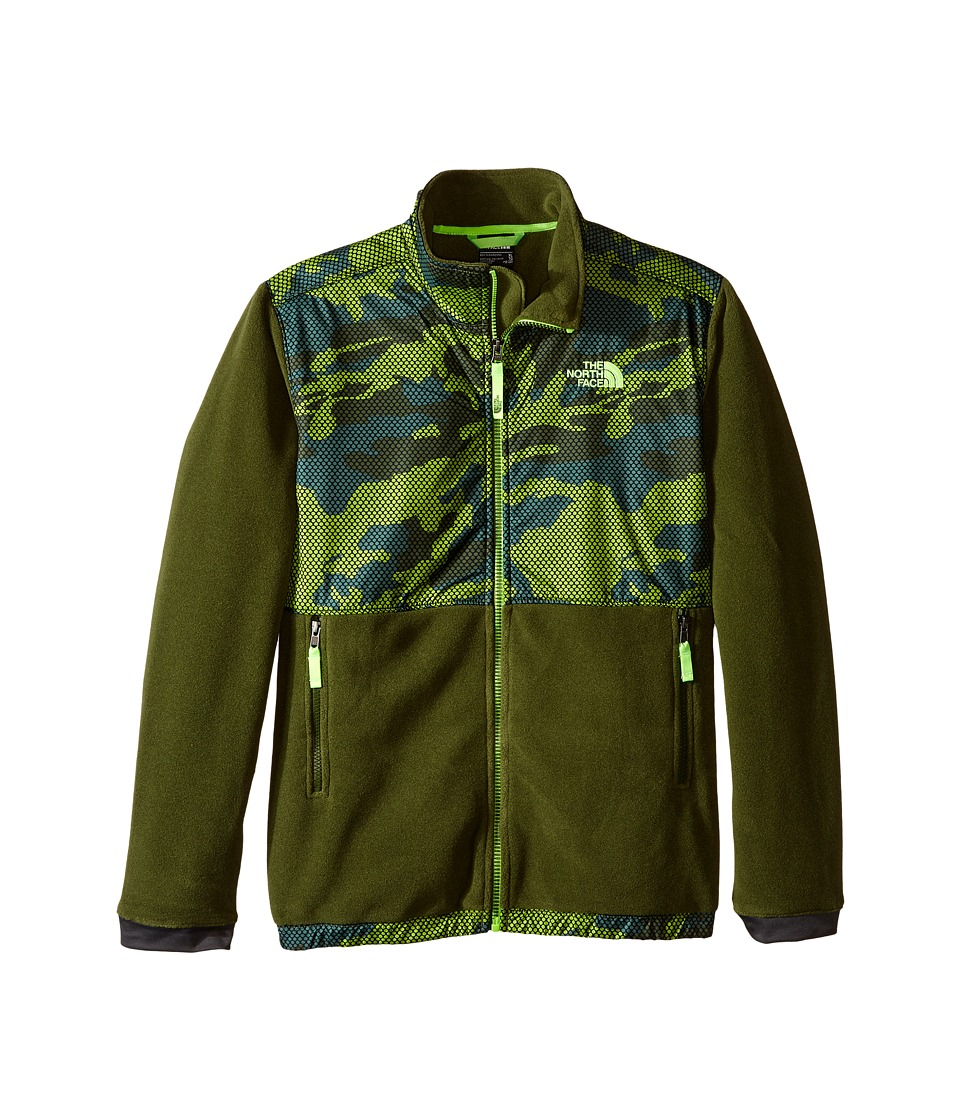 The North Face Kids - Denali Jacket (Little Kids/Big Kids) (Terrarium Green Mesh Camo) Boy's Coat