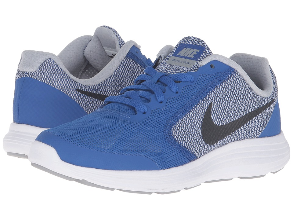 Nike Kids - Revolution 3 (Big Kid) (Game Royal/Wolf Grey/White/Black) Boys Shoes