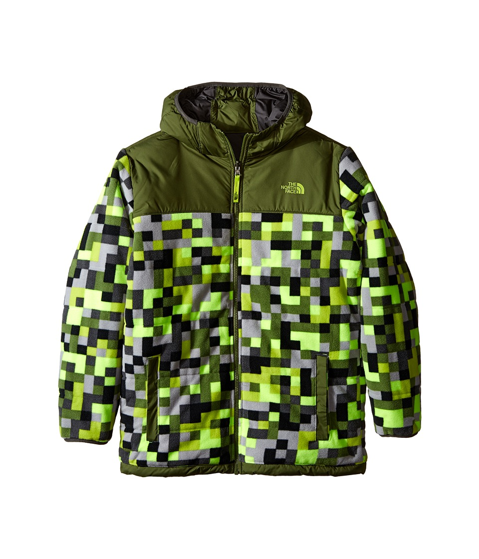 The North Face Kids - Reversible True or False Jacket (Little Kids/Big Kids) (Safety Green Pixel Print (Prior Season)) Boy's Coat
