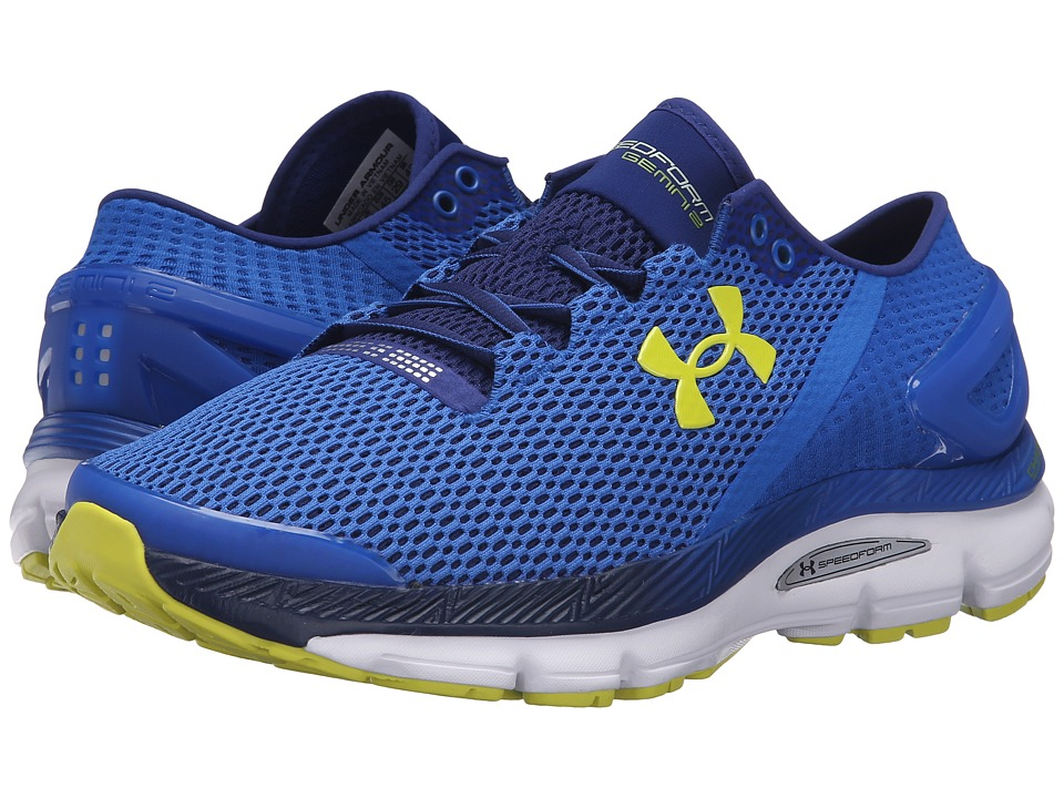 Under Armour - UA Speedform Gemini 2.1 (Ultra Blue/White/Flash Light) Men's Running Shoes