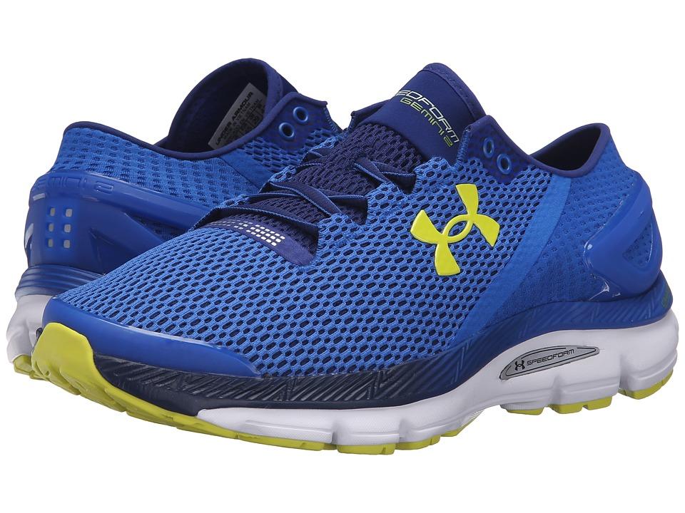 Under Armour - UA Speedform Gemini 2.1 (Ultra Blue/White/Flash Light) Men's Running Shoes